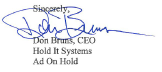 Don Burns, CEO Holt It Systems - Ad On Hold